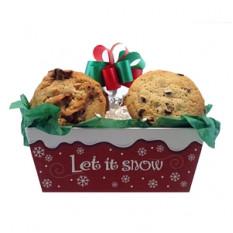 Deixe a bandeja de cookies de neve