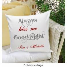 Sempre Beije-me Goodnight Almofada decorativa