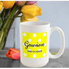 Caneca de café personalizada das bolinhas