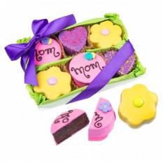 Caixa de presente Brownie do dia das mães de 6