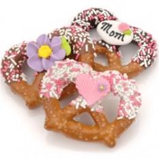 Dia das Mães Chocolate & Caramelo Pretzel Twists-Individualmente embrulhado
