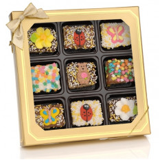 Primavera Chocolate mergulhou Mini Barras de Arroz Crispy - Janela Gift Box of 9