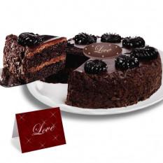 Torta de Mousse Torta de Chocolate - Dia dos Namorados