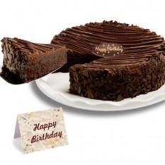 Aniversário - Bolo De Brownie Enrobado De Chocolate