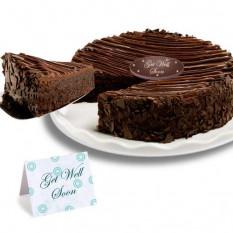 "Triguenho Enrobed Brownie ""Get Well Soon"" Cake"