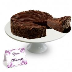 Bolo de Brownie Envelhecido com Chocolate Triplo