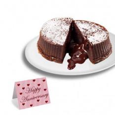 """Bolos de """"Aniversário"""" de Lava de Trufa de Chocolate"""