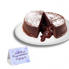 """Chocolate Truffle Lava """"Parabéns"""" Bolos"""