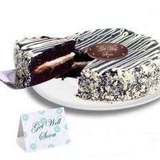 "Mousse preto e branco ""Get Well Soon"" Cake"