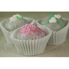 Trufas de bolo - Design elegante, caixa de presente de 12