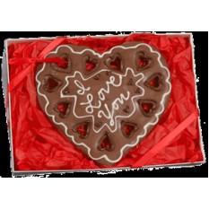 Caixa de presente de bolinho de coração gigante, personalizada