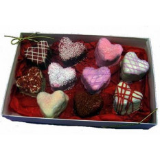 Heart Brownie Bites Gift Box, Love
