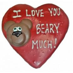 "Mão Decorado ""Beary Much"" Cookie"