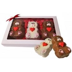 Sweet Heart Mini Bear Bolos, caixa de presente de 3