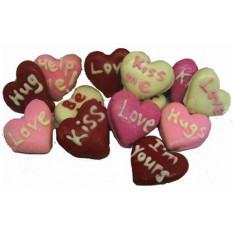 Mini biscoitos decorados para namorados à mão, dúzia