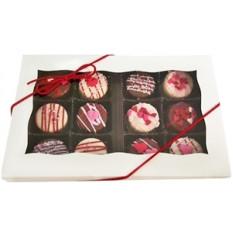 Mini biscoitos de Oreo - projetos dos namorados, caixa de presente de 12