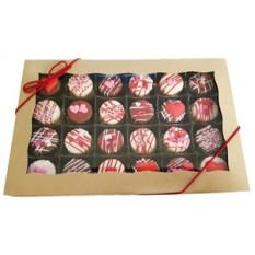 Mini Oreo® Cookies - Desenhos de Dia dos Namorados, caixa de presente de 24