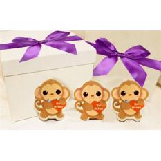 Nenhuma caixa de presente do biscoito do negócio do macaco