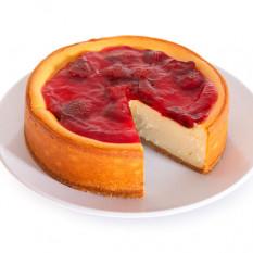 Cheesecake com cobertura de morango Ny - 6 polegadas