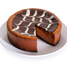 Cheesecake de Chocolate Triplo - 6 Polegadas