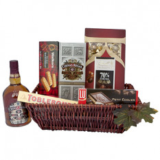 Chocolate e Chivas Regal Gift Basket