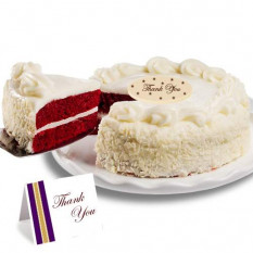 "Bolo de chocolate ""Thank you"" Red Velvet Chocolate"